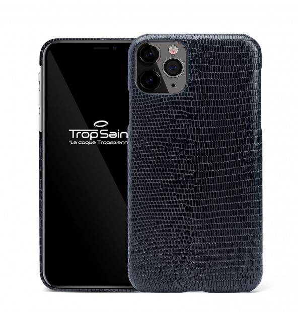 iPhone Leather Case-Skull-Brown