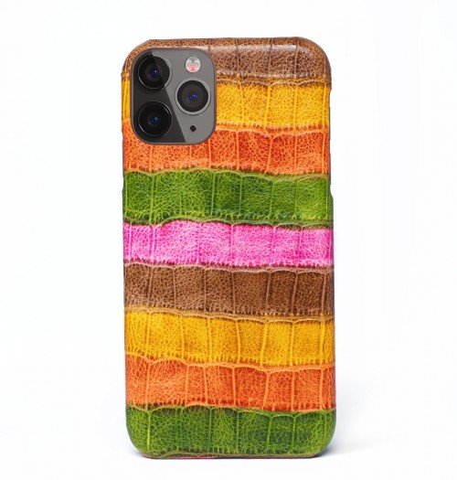iPhone X Python Leather Wallet-Black